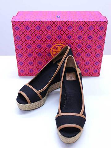 【Tory Burch(トリーバーチ)】未使用品 Majorca 85MM LOGO WEDGE
